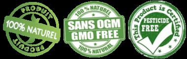 Produits naturels, sans OGM, ni produits chimiques