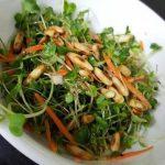 Salade de micro-pousses et avocat